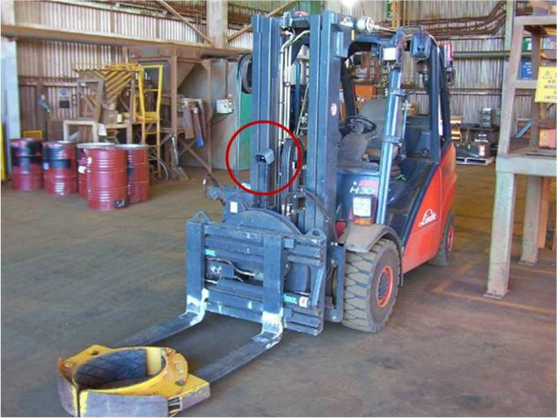 Forklift with Drum Handler & Camera