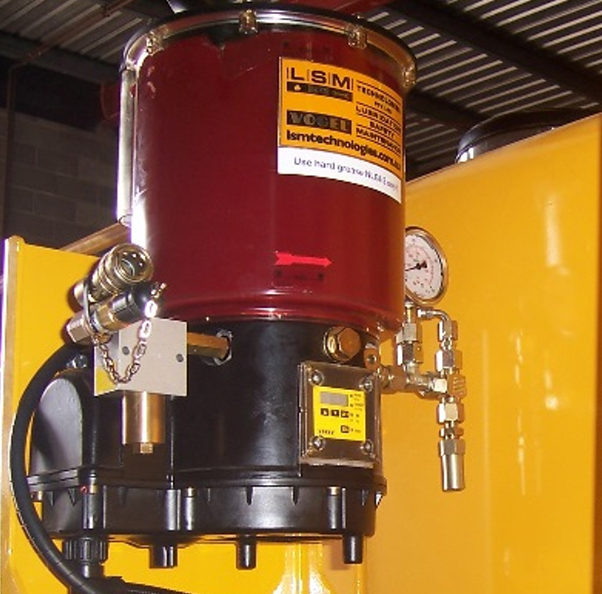 Autogreaser with Pressure Relief, Pressure Gauge Monitoring, Quick Refill, Grease Filter Assembly & Inbuilt Controller