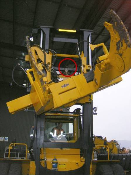CCCamera mounted on Cascade Tyre Handler / Carriage