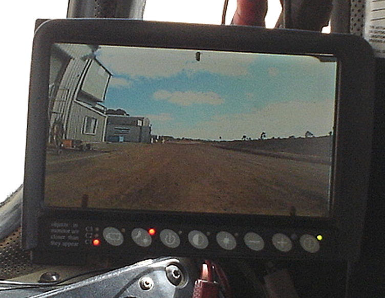 LCD Monitor View of Rear CCCamera