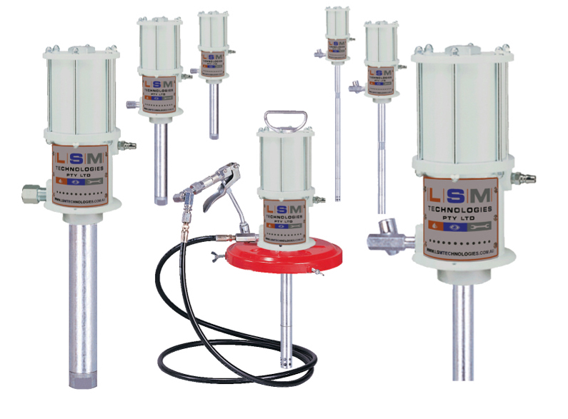 LUBEFLO Pneumatic Pump Units Product Range for Oil and Grease