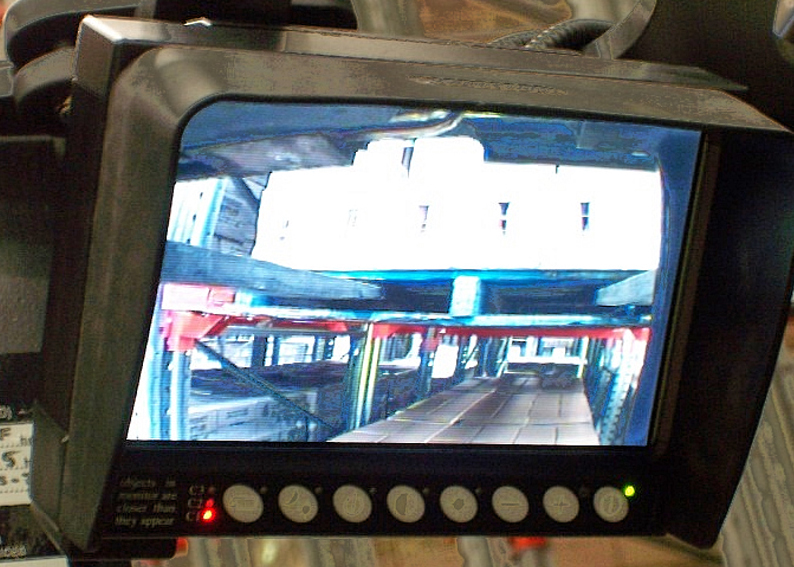 Operator view of the Forks on Compact LCD Monitor