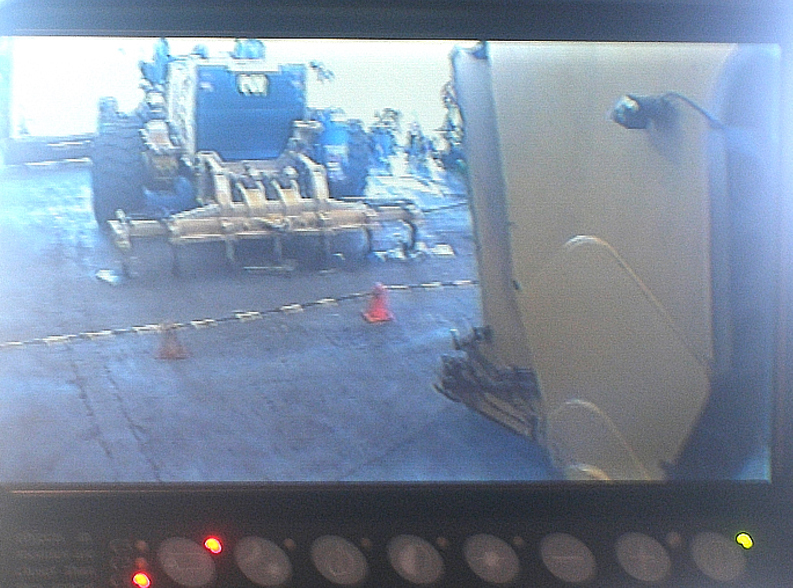 LCD Monitor View of RHS of Trailer Hitch