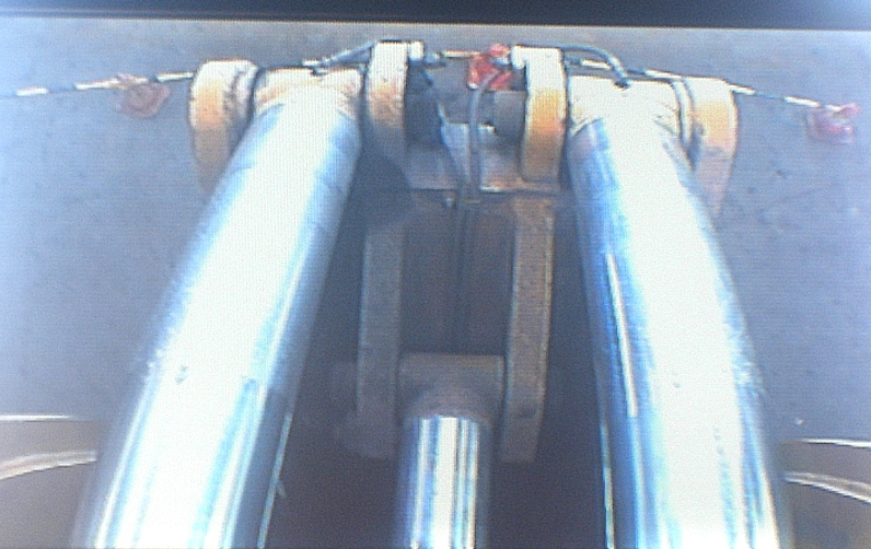 LCD Monitor view of the Hydraulic Hitch