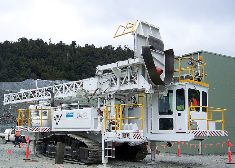 Sandvik / Drilltech D45KS Drill Rig under assembly