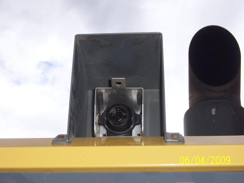 Rear mounted CCCamera