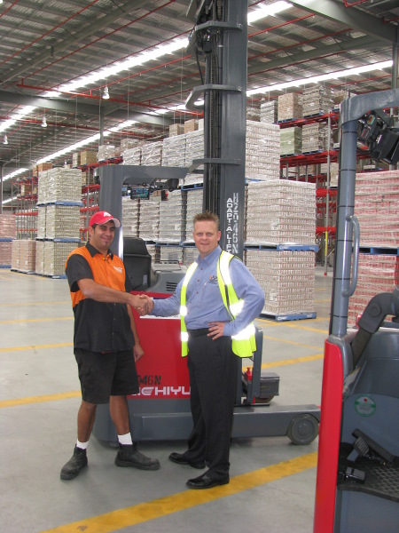 Coca- Cola (Flow Control Manager) Peter Vassallo and LSM Technologies- Anthony Webber at the new Eastern Creek facility