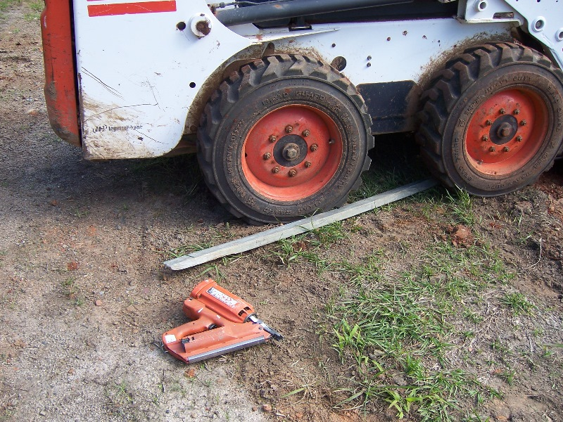 Steve even showed the effects of the Ride- on shooting nails into the Tyres with a Nail Gun