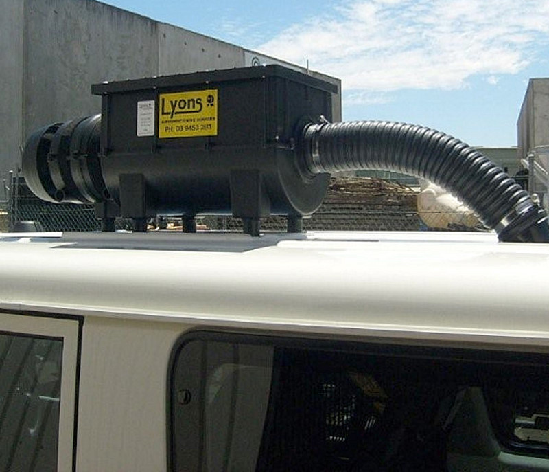 RESPA SD mounted on roof of Pit Crew Service Vehicle