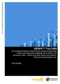 QME- Mines Inspectorate- Health Survelliance RESPA Trial 2009 Final Report