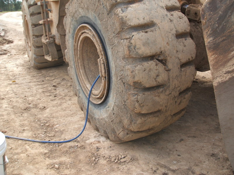 Scarred Wheel Ladoer Tyres