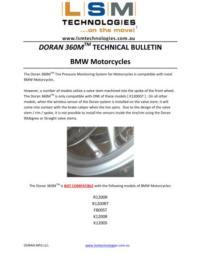 Doran M360M Technical Bulletin - BMW Compatibility