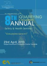 8th Quarrying and Small Mines Safety + Health Conference