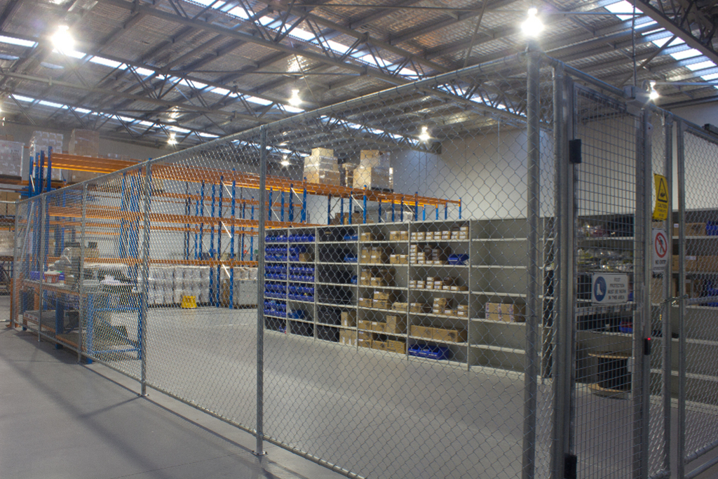 Secured Warehouse Area