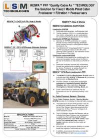 LSM Flyer RESPA Quality Cabin Air Systems- Mobile Plant