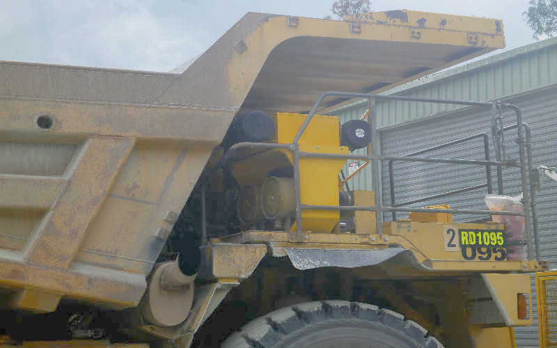 Q-CABAIR Quality Cabin Environmental Air System on Dump Truck