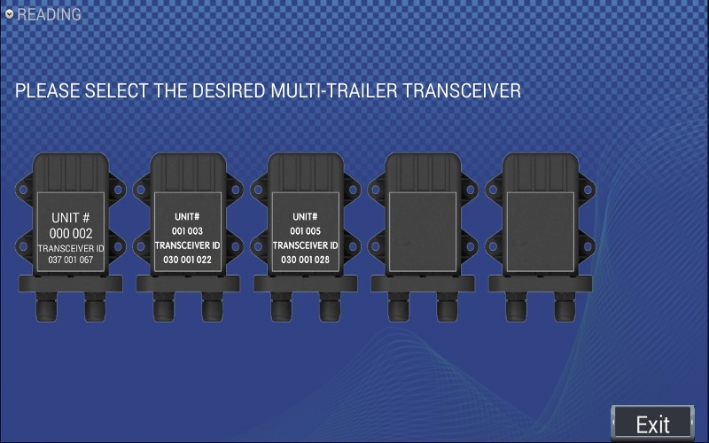 SmartLink View of Multi Trailer / Transceivers- upto 20 Tyres per Trailer / Vehicle, Upto 8 Trailers and a total monitoring of 180 Tyres