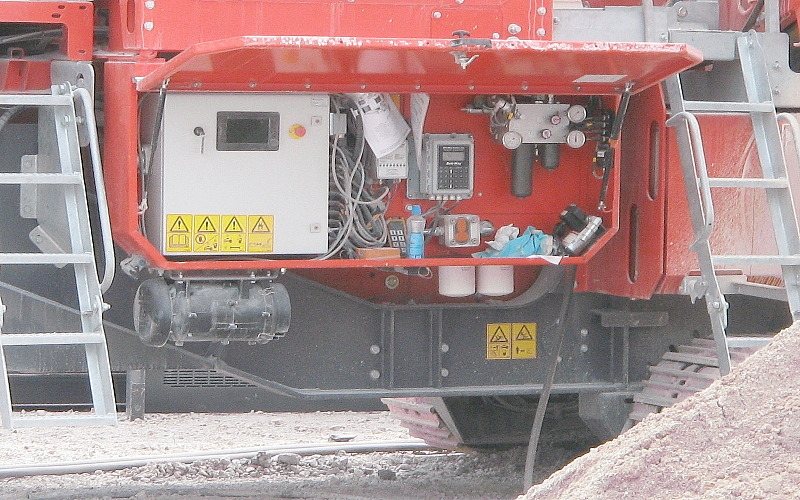 RESPA CF Unit on Mobile Crusher Electrical Control Cabinet