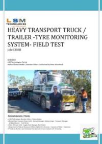 Heavy Transport Truck / Trailer -Tyre Monitoring System- Field Test