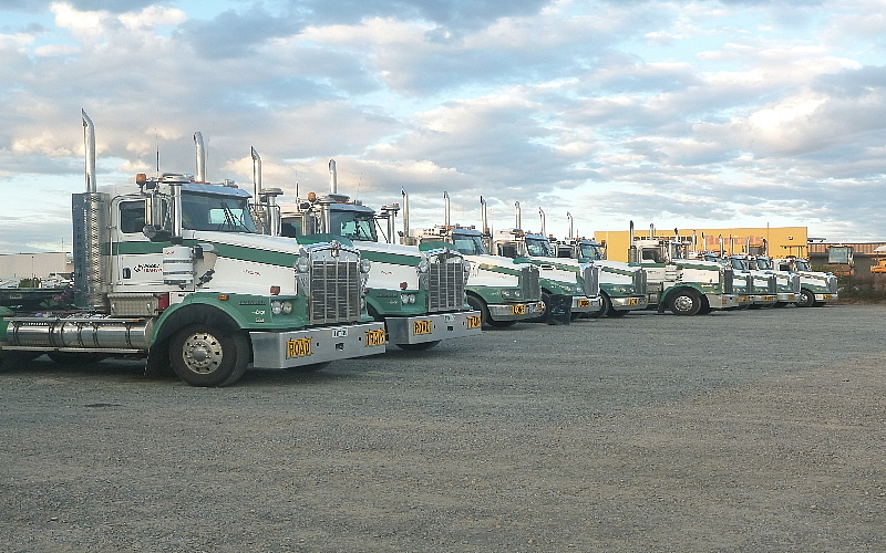 Woods Transport maintains a large Fleet of On- Road Transport