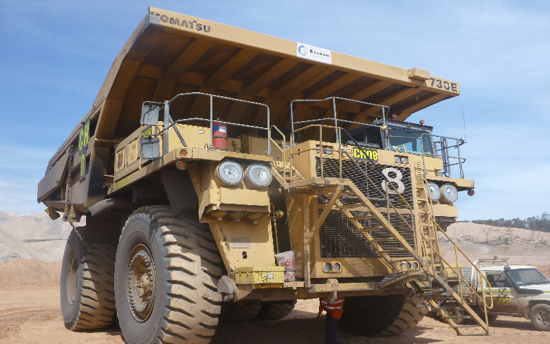 Ensham Komatsu 730E DTrucks fitted with LSM Technologies TMSystems