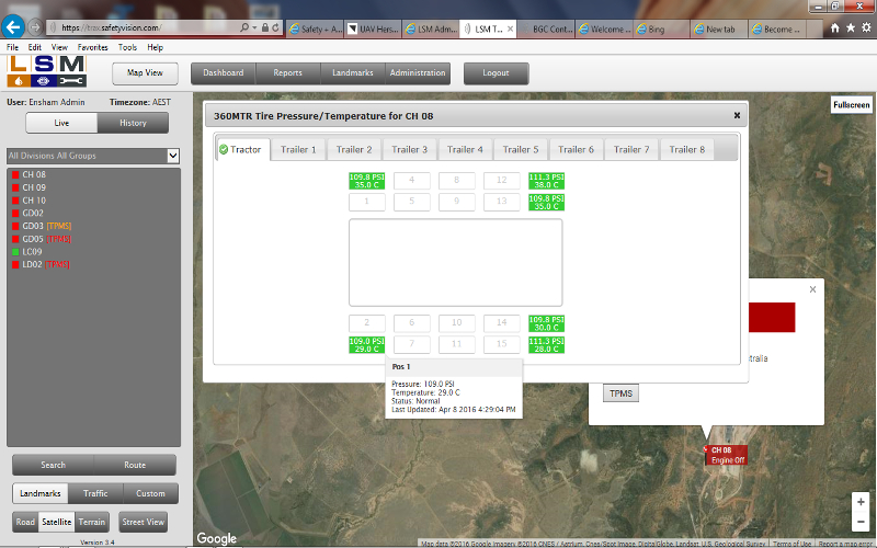 Screen Shot of SAFETRACS Web based On- line Reporting and Analysis Program