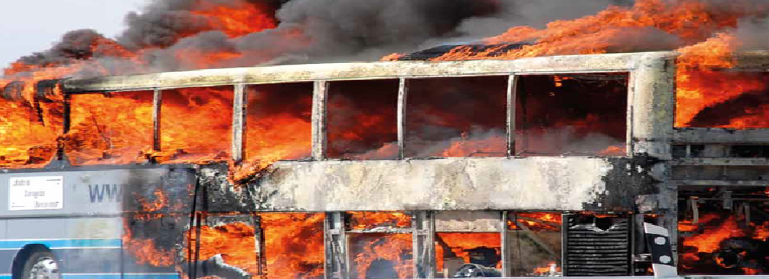 40% of Bus Fires were confined to the Wheel Well