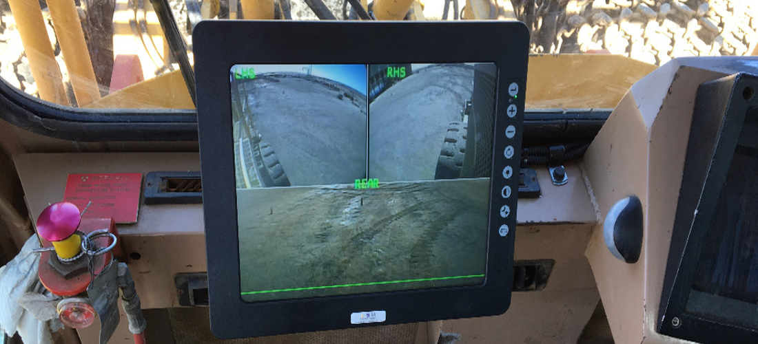 Operator views all 3 x Cameras (LHS / RHS / Rear) at all times on a 12