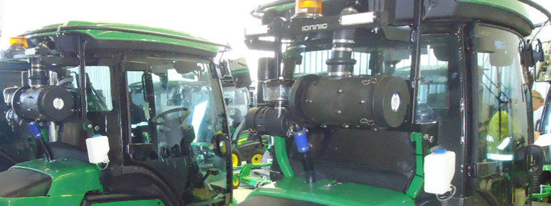 RESPA CF Units mounted on JD Lawn- mowers