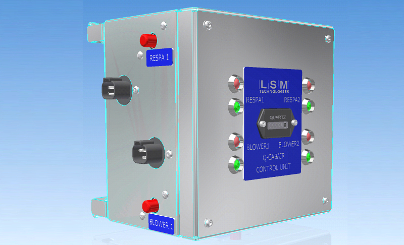 Q-CABAIR Control Unit- monitors the RESPA and Blowers for short circuit / operation and failure warning