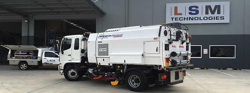 RESPA mounted on Sweeper Truck