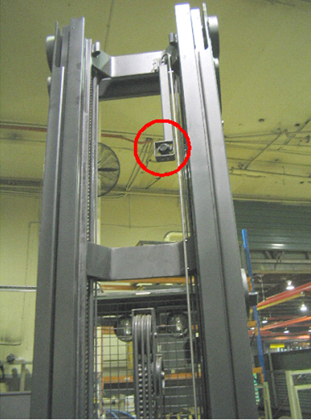 Operator can clearly view under Pallet when removing and relocating in rack