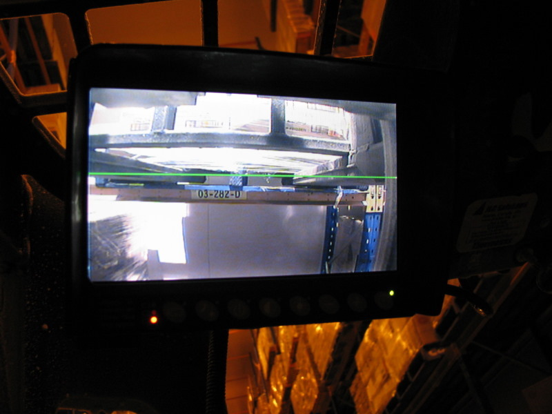 LCD Monitor- note in 20 Deg C- Open Cabin and a Clear View of the Forks with Indicator Line Marker to assist