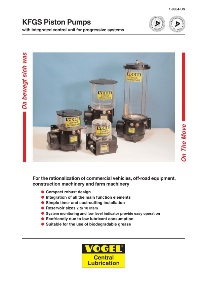 KFGS Piston Pumps with integrated control unit for progressive systems